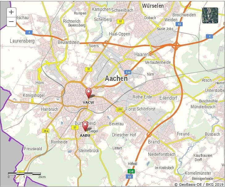 LANUV Messstaionen in Aachen